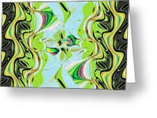 Jade Flower Abstract Greeting Card