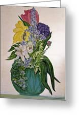 Jade Vase  Greeting Card