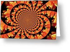 Jagged Petals Greeting Card