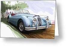 Jaguar X K 140 Greeting Card