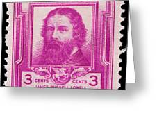 James Russell Lowell Postage Stamp Greeting Card
