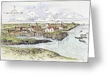 Jamestown Settlement, 1622 Greeting Card