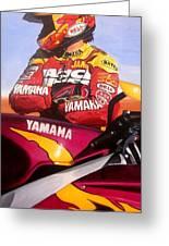 Jamie James - Yamaha Yzf Greeting Card by Jeff Taylor