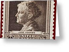 Jane Addams Postage Stamp Greeting Card