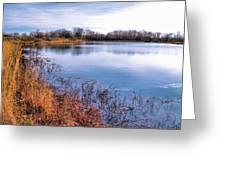 January Bass Pond 2 2012 Greeting Card