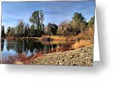 January Bass Pond 2012 Greeting Card