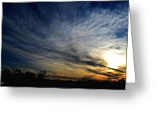 January Sunset 2012 Greeting Card