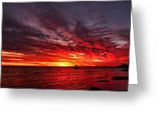 January Sunset Greeting Card