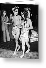 Japan: Nude Wedding, 1970 Greeting Card