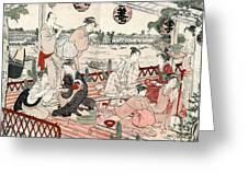 Japan: Restaurant, C1786 Greeting Card