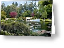 Japanese Garden Panorama 1 Greeting Card