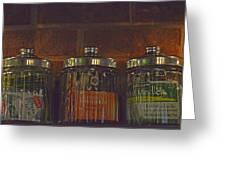 Jars Of Assorted Teas Greeting Card
