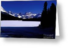 Jasper - Maligne Lake In Winter Greeting Card