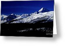 Jasper National Park In Winter Time Greeting Card