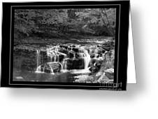Java Falls Monochrome Greeting Card