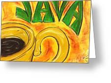 Java Greeting Card by Lee Halbrook