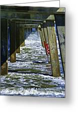 Jax Beach Pier Greeting Card
