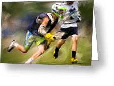 Jaxx Lacrosse 1 Greeting Card