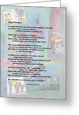 Jazz Changes - Poem Greeting Card