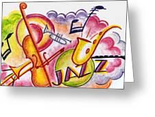 Jazz Deco Greeting Card