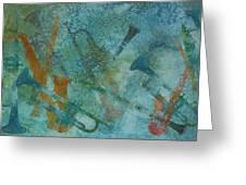 Jazz Improvisation One Greeting Card