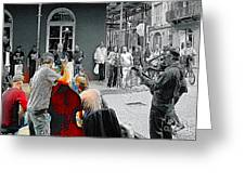 Jazz In New Orleans Greeting Card