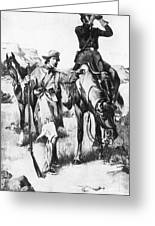J.c. Fremont And His Guide, Kit Carson Greeting Card