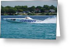 J.d. Byrider Offshore Racing Greeting Card