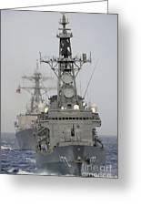 Jds Shimakaze Sails In Formation Greeting Card