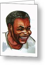 Jean Pierre Dikongue Pipa Greeting Card