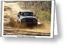 Jeep In The Mud Greeting Card