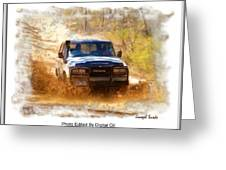 Jeep In The Mud Edited Greeting Card
