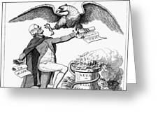 Jefferson: Cartoon, 1800 Greeting Card by Granger