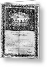 Jefferson: Degree, 1820 Greeting Card