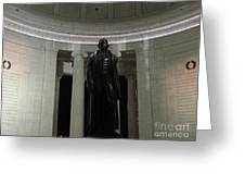 Jefferson In The Dark Greeting Card