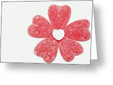 Jelly Candy Heart Flower 1 Greeting Card