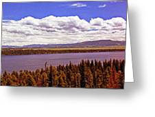 Jenny Lake Panorama Greeting Card