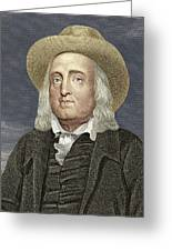 Jeremy Bentham, British Philosopher Greeting Card by Sheila Terry