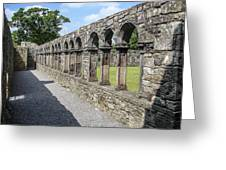 Jerpoint Abbey Arches Greeting Card