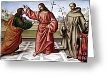 Jesus & Thomas Greeting Card