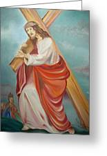 Jesus Greeting Card by Prasenjit Dhar