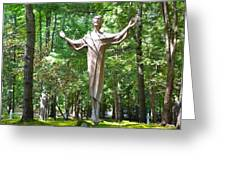 Jesus Statue Greeting Card