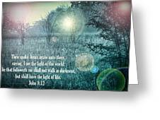 Jesus The Light Of The World Greeting Card