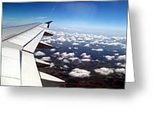 Jet Blue Takeoff Greeting Card