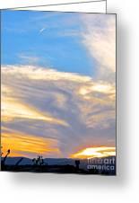 Jet Sunset Greeting Card