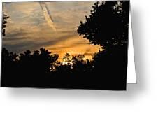 Jet Trail Sunset Greeting Card
