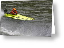 Jetboat In A Race At Grants Pass Boatnik Greeting Card