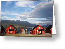Jetty In A Norwegian Fjord Greeting Card