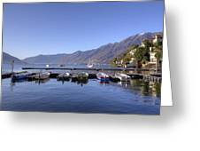 jetty in Ascona Greeting Card
