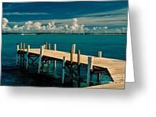 Jetty To Stocking Island Greeting Card